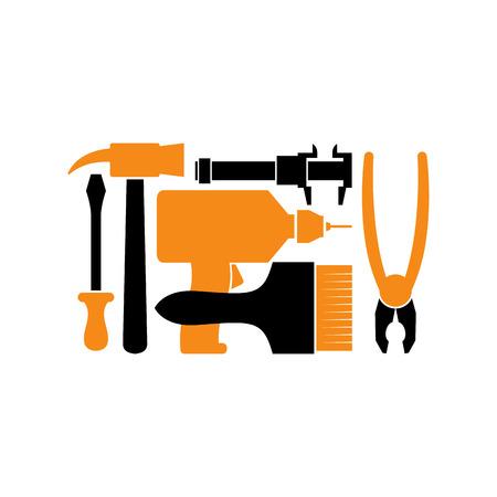 locksmith: Repair . Repairs Tool emblem. Instrument sign. Industrial locksmith Tools