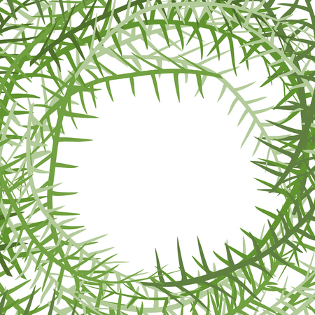 Algae frame. Leading grass background. place for text Illustration