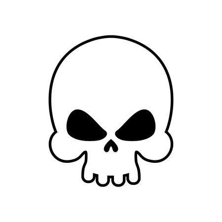 bleak: Skull isolated. skeleton head on white background. death symbol Illustration