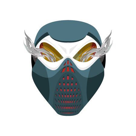 protective mask: Skull protective mask. Hell defender. Terrible headache. skeleton head paintball helmet