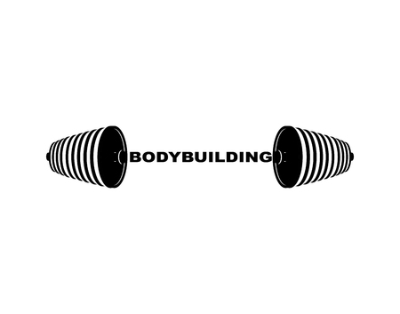 Bodybuilding barbell. Sports accessory. Lifting weights. Fitness equipment