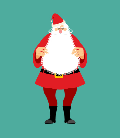 saint nicholas: Santa Claus isolated. Granddad in red suit and white beard. Christmas and New Year character  Illustration