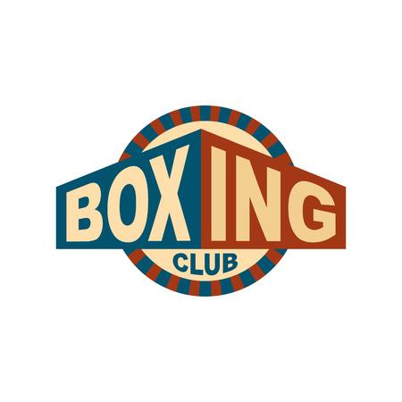 Boxing club emblem. for gym. Sport sign Illustration