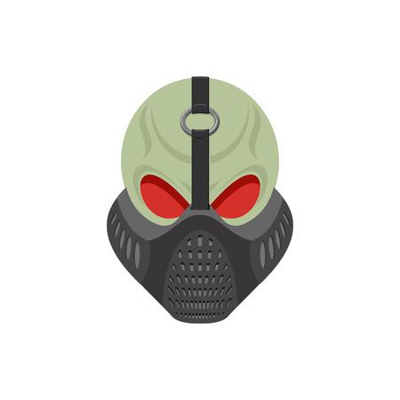 Skull protective mask. Hell defender. Terrible headache. skeleton head paintball helmet