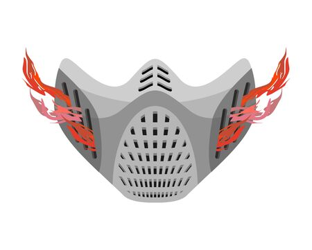 protective mask: Protective mask respirator future. Fantastic space helmet. Paintball Equipment