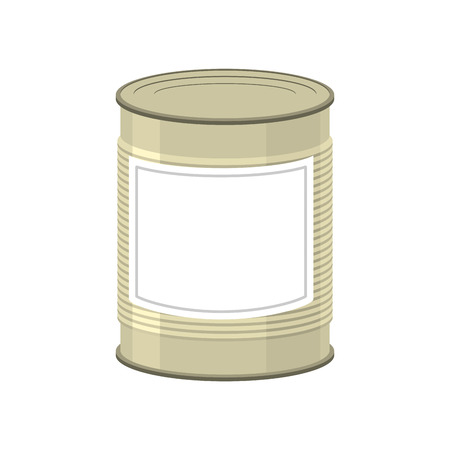 tinned: Cans isolated. Tin bank on white background