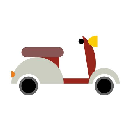 driving conditions: Scooter isolated. Transport icon on white background