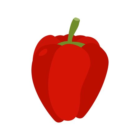 rich in vitamins: Bulgarian pepper isolated. Red vegetables on white background. Food vegetarian
