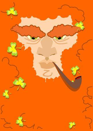 leprachaun: Leprechaun with red beard. St. Patricks Day character. Irish holiday
