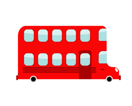 Double-decker cartoon style. london bus isolated. Transport on white background Illustration