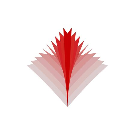 bask: Fire abstract . Flames emblem. Red Sign