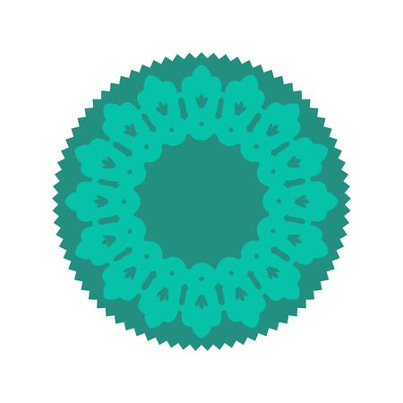 Halal Islamic template symbol. East ornament for emblem. Muslim sign for food