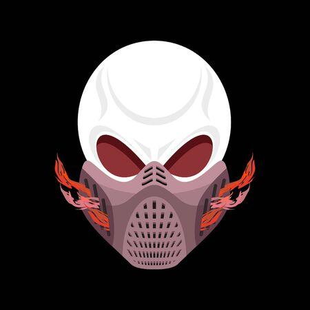 protective mask: skeleton head paintball helmet. Skull protective mask. Hell defender. Terrible headache
