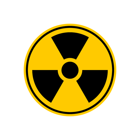 isotope: Radiation Danger sign. Caution chemical hazards. Warning sign of radioactive contamination