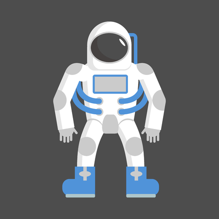 Astronaut isolated. cosmonaut on white background. Space suit