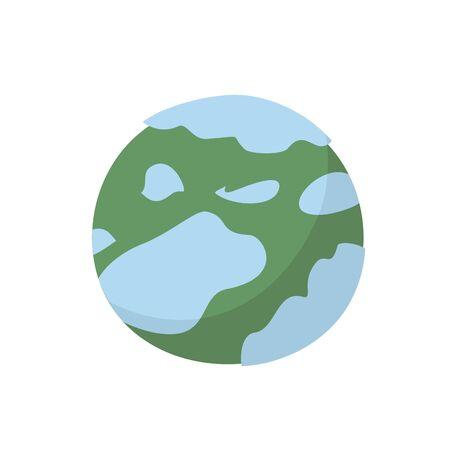 neptune: Neptune isolated cartoon style. Planet of solar system on white background