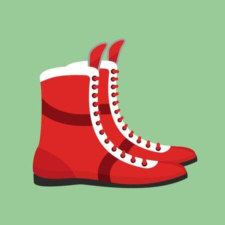 arbitro: zapatos de boxeo. calzado retro para el entrenamiento del boxeador Vectores