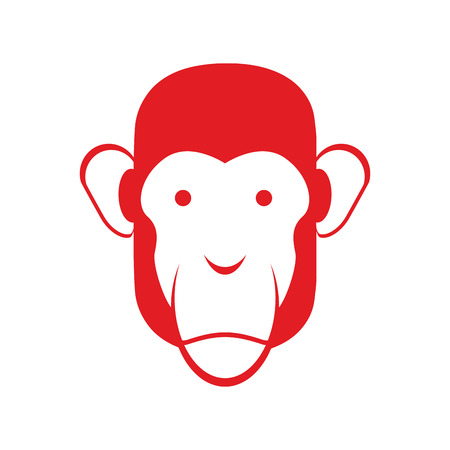 primacy: Monkey face isolated. Chimpanzee head. Primacy of person