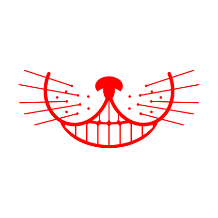 Cheshire cat smile. Animal Alice in Wonderland. Unusual pet