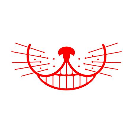 Cheshire cat smile. Animal Alice in Wonderland. Unusual pet