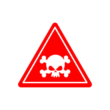 poison sign: Danger Poison sign red. Attention toxic hazard. Warning sign acid pollution