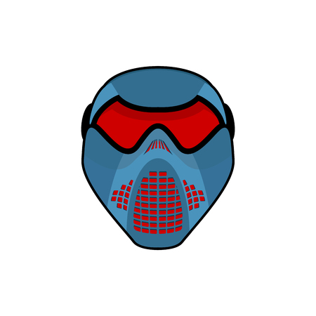 Protective helmet Scary. Sports respirator future. paintball mask. Alien motorcycle helm