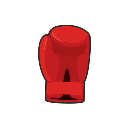 padding: Boxing glove red. Accessory for boxer. sports equipment Illustration