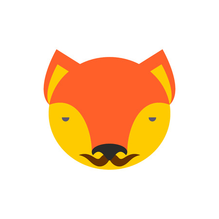 Fox face. Cute she-fox head. element for kids design