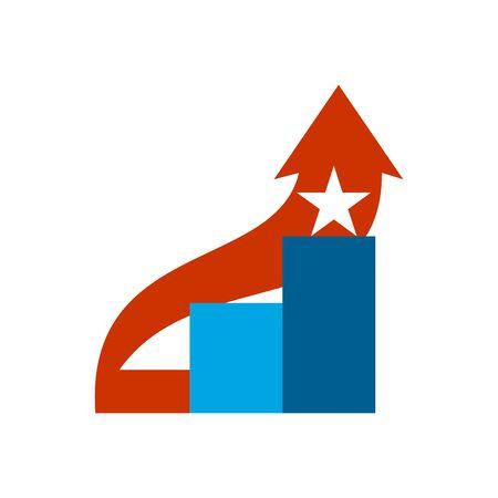 Career ladder . Steps sign. Climbing emblem.