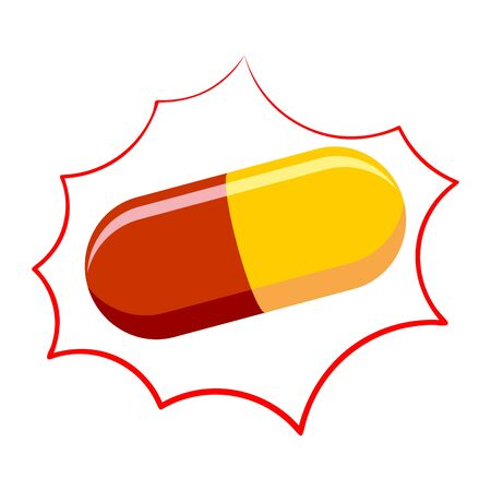 Pill pharmacy isolated. Medicinal drugs on white bubble