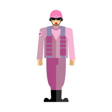 Army. Pink soldiers. War with lipstick