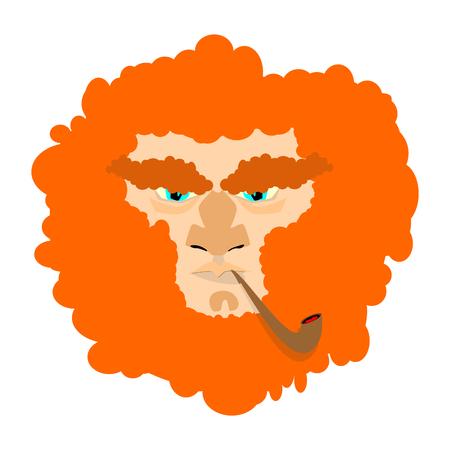 leprachaun: Leprechaun with red beard. St. Patricks Day character. Irish holiday  Illustration