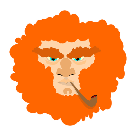 Leprechaun with red beard. St. Patricks Day character. Irish holiday  Illustration