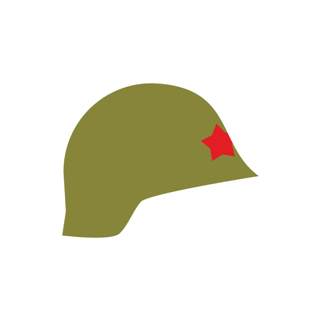 tatty: Retro military helmet isolated. Vintage Army cap on white background. Soldiers protection hat Illustration