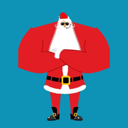 cordon: Santa Claus bodyguards. Christmas guards. Protecting new year. Defenders gifts for children