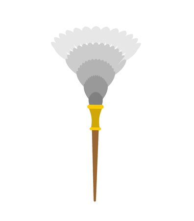 feather duster isolated. Maid accessory. dust cleaning