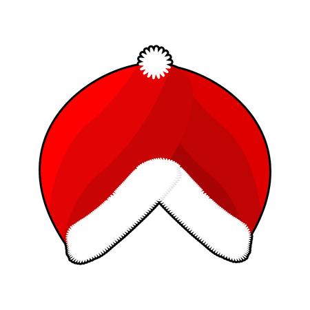 turban: Santa Turban. East Islamic Headdress. Red cap whit fur. Muslim Christmas hat. Winter warm cap
