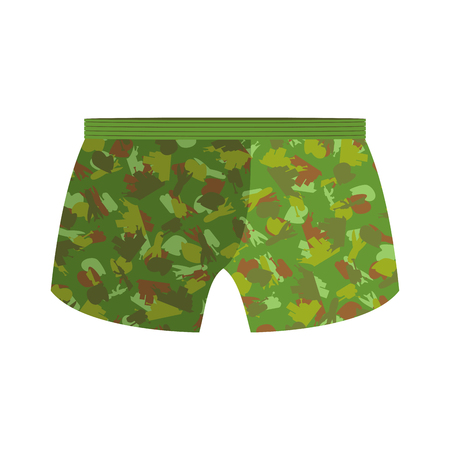 Military underpants. Gift for men. military celebration in Russia. Defenders of  Fatherland Day Illustration