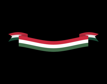 flag banner: Hungary flag isolated. Hungarian ribbon banner. state symbol