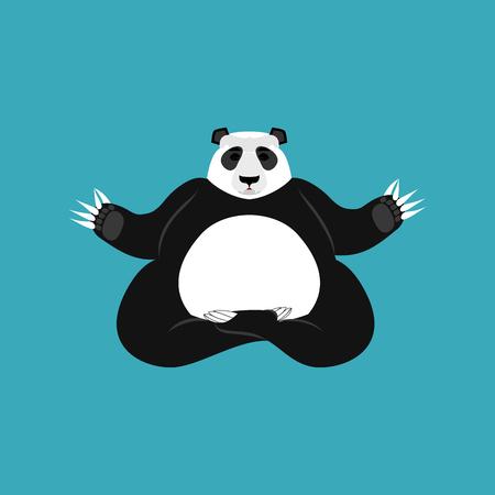 yogi: Panda Yoga. Chinese bear yogi. Animal zen and relax