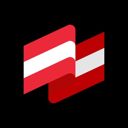 austrian: Austria flag ribbon isolated. Austrian banner tape. State patriotic sign Illustration