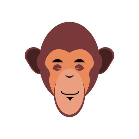 snore: Monkey Sleeping Emoji. marmoset asleep emotion isolated. Chimpanzee face Illustration
