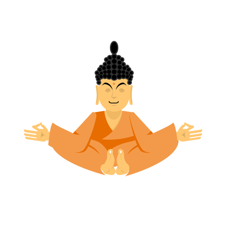 Buddha lotus pose yoga isolated. zen and relaxation. Indian god