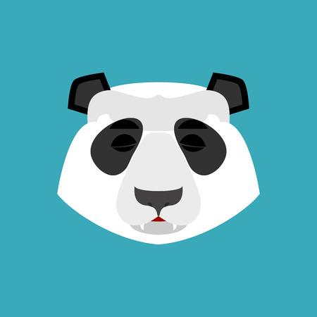Panda sleeping Emoji. Chinese bear asleep emotion isolated