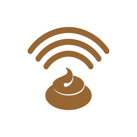 Wi-fi shit. WiFi turd. bullshit Wireless communication. bad connection button