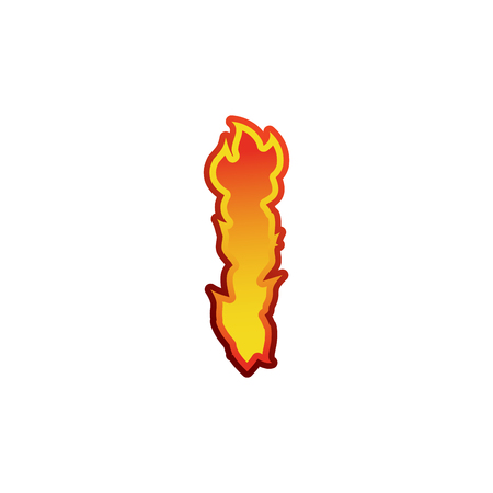 fervent: Letter I fire. Flames font lettering. Tattoo alphabet character. fiery sign alphabet
