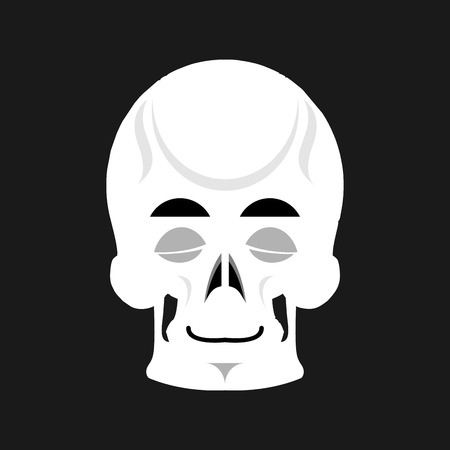 Skull Sleeps Emoji. Skeleton Head Asleep Emotion Isolated Royalty ...