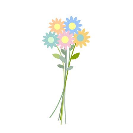 Bouquet wildflowers isolated. Flower on white background