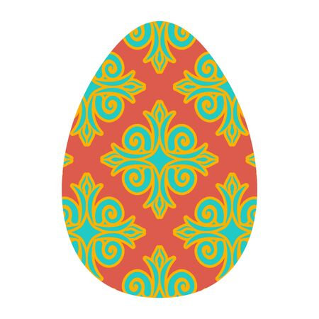 Easter egg isolated. Traditional decoration food for religion holiday
