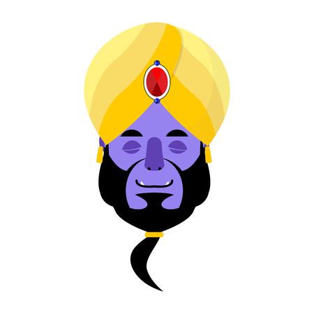 Genie sleeping Emoji. Magic ghost asleep emotion. Arabic magic spirit avatar